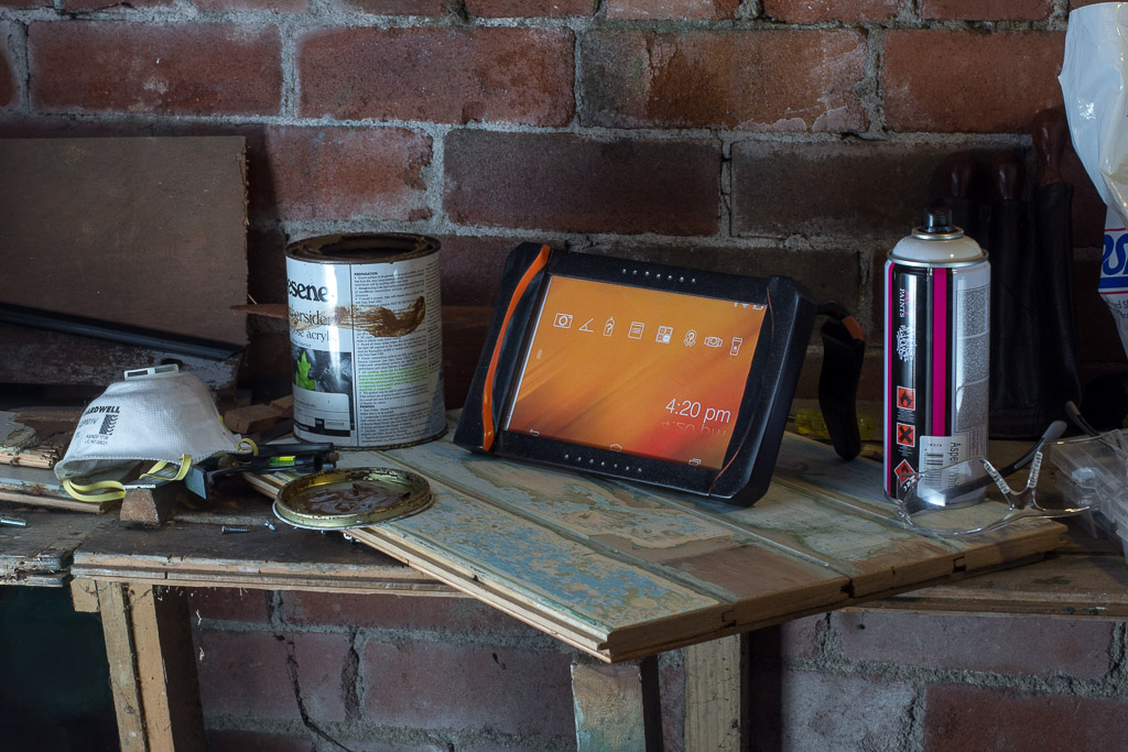 tablet in garage
